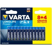 Varta Longlife Power AAA; LR03; blister 8+4ks