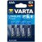 Varta Longlife Power AAA; LR03; blister 4ks