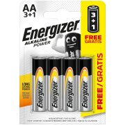 Energizer Alkaline Power AA; LR06; blister 3+1 ks